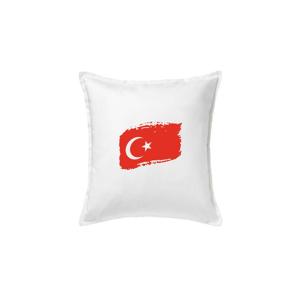 Turecko vlajka - Polštář 50x50