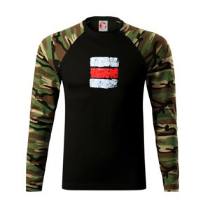 Turistická značka - červená - Camouflage LS