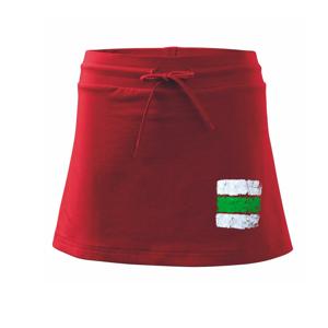 Turistická značka - zelená - Sportovní sukně - two in one