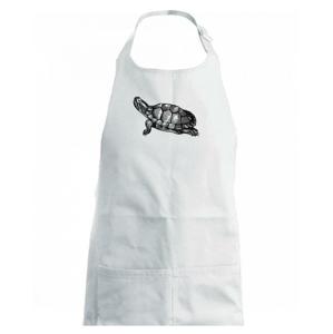 Tužkou kreslená želva - Dětská zástěra na vaření