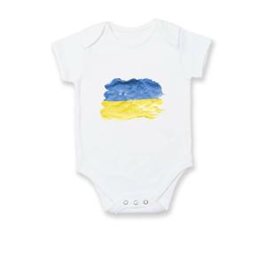Ukrajina vlajka rozpitá - Body kojenecké