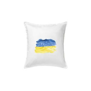 Ukrajina vlajka rozpitá - Polštář 50x50