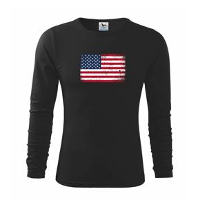 USA vlajka - Triko dětské Long Sleeve