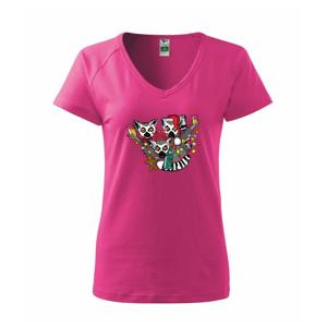 Vánoční Lemurové (Pecka design) - Tričko dámské Dream