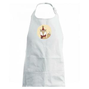 Vánoční liška v kolečku - Dětská zástěra na vaření