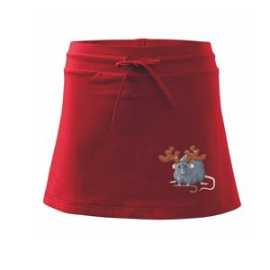 Vánoční myš - Sportovní sukně - two in one