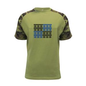 Vánoční vzor - šachovnice - Raglan Military