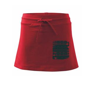 Vánoční vzor v rámečku - Sportovní sukně - two in one