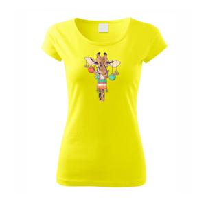 Vánoční žirafa - Pure dámské triko