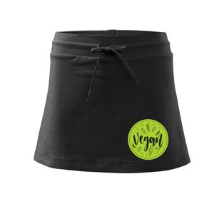 Vegan zelenina v kruhu - Sportovní sukně - two in one