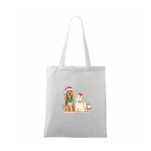 Veselé vánoce - pes, křeček a kočka - Taška malá