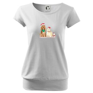 Veselé vánoce - pes, křeček a kočka - Volné triko city