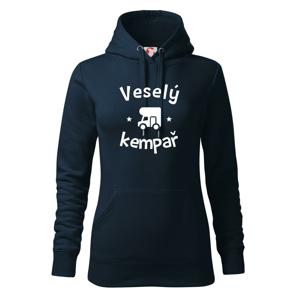 Veselý kempař - Mikina dámská Cape s kapucí