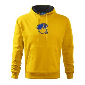 Veselý lyžař - Mikina s kapucí hooded sweater