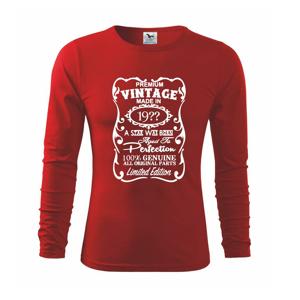 Vintage Etiketa - ročník dle vás - Triko s dlouhým rukávem FIT-T long sleeve