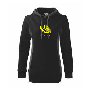Vortex logo barevné - Mikina dámská Kangaroo s kapucí