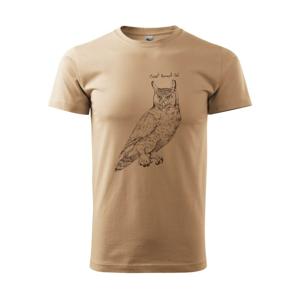 Výr virginský great horned owl - Heavy new - triko pánské