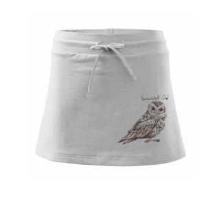 Výreček plaménkový flammulated owl - Sportovní sukně - two in one