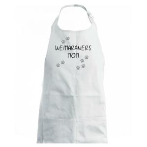 Weimaraners mom (Výmarský ohař)  (Reflexní tlapky) - Dětská zástěra na vaření