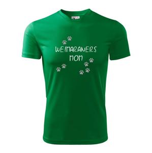 Weimaraners mom (Výmarský ohař)  (Reflexní tlapky) - Dětské triko Fantasy sportovní (dresovina)