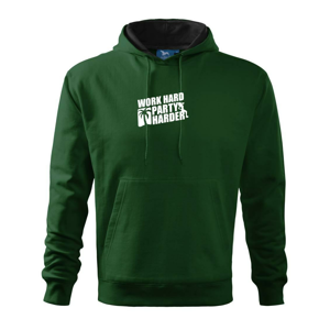 Work hard, party harder - Mikina s kapucí hooded sweater