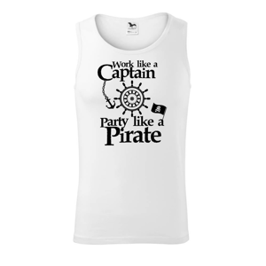 Work Like A Captain Party Like A Pirate - Tílko pánské Core