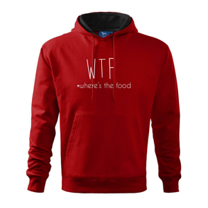 WTF-where's the food - Mikina s kapucí hooded sweater