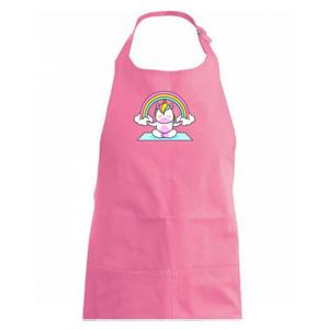 Yoga jednorožec - duha - Zástěra na vaření