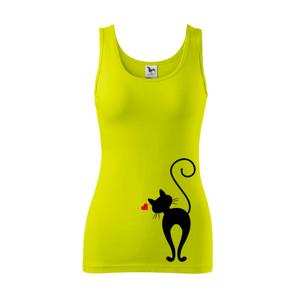Zamilovaná kočka zezadu - Tílko triumph