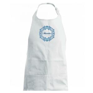 Ženich a nevěsta - modrý věneček (Pecka design) - Zástěra na vaření