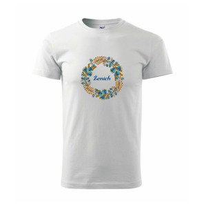 Ženich a nevěsta - sušené květy věneček (Pecka design) - Heavy new - triko pánské