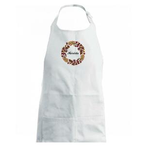 Ženich a nevěsta - sušené květy věneček (Pecka design) - Zástěra na vaření