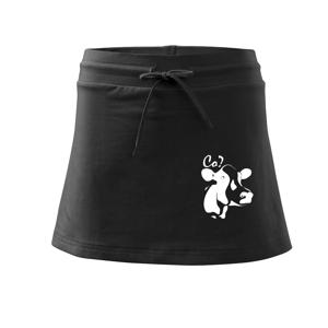 Zmatená kráva - Sportovní sukně - two in one