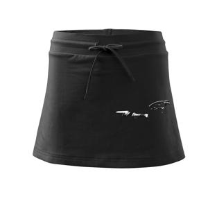 Zrcadlovka ve tmě z boku - Sportovní sukně - two in one