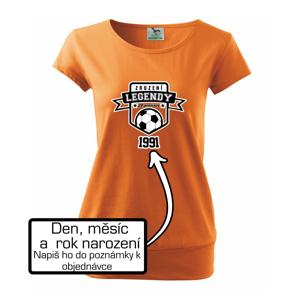 Zrození fotbalové legendy - tvůj den a rok narození - Volné triko city