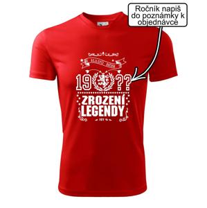 Zrození legendy - český lev - Dětské triko Fantasy sportovní (dresovina)