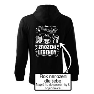 Zrození legendy PILOT - vlastní ročník - Mikina s kapucí na zip trendy zipper