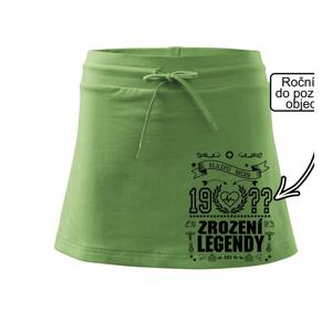 Zrození legendy - pro doktora - Sportovní sukně - two in one