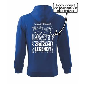Zrození legendy - pro opraváře - Mikina s kapucí na zip trendy zipper
