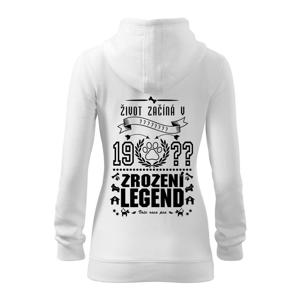 Zrození legendy - pro pejskaře - Dámská mikina trendy zippeer s kapucí