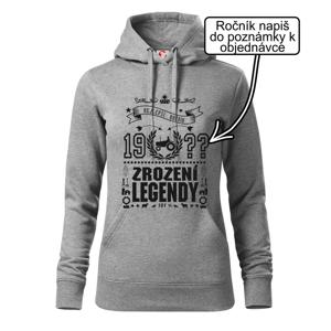 Zrození legendy - pro traktoristu - Mikina dámská Cape s kapucí