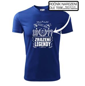 Zrození legendy - pro všechny - vlastní letopočet - Pánské triko Fantasy sportovní (dresovina)