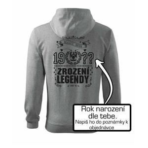 Zrození legendy - slezská orlice - Mikina s kapucí na zip trendy zipper