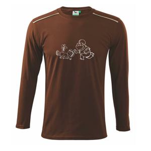 Zvířecí fotbal - Triko s dlouhým rukávem Long Sleeve